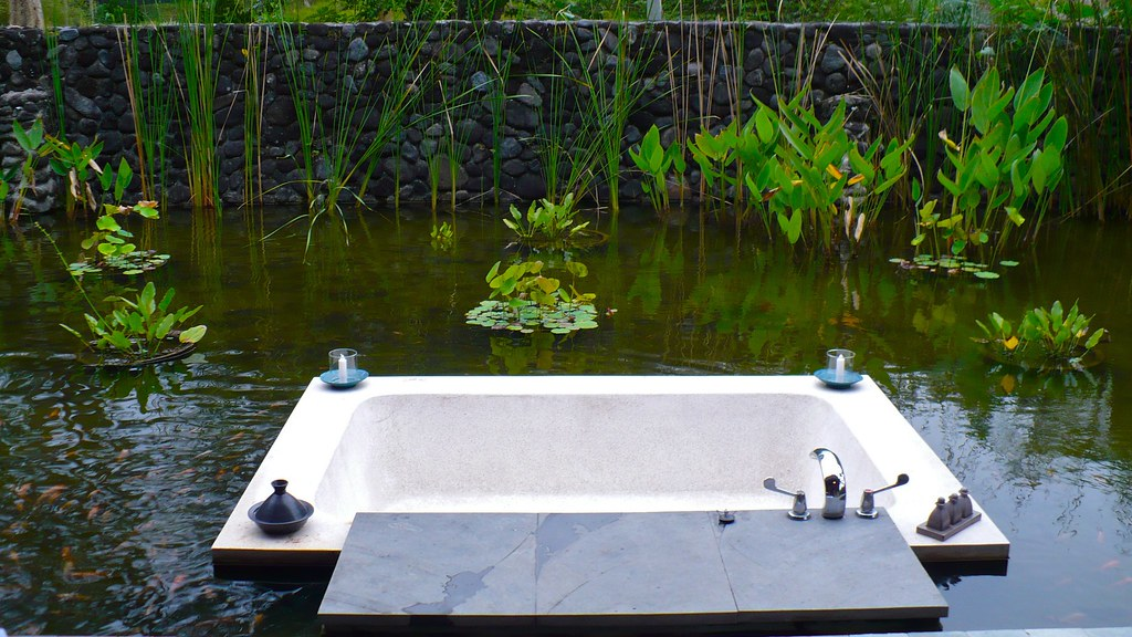 Alila outdoor bathtub most amazing hotel ever but more for Outdoor pond tub