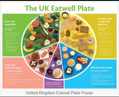 Uk Eatwell Plate United Kingdom Eatwell Plate Poster