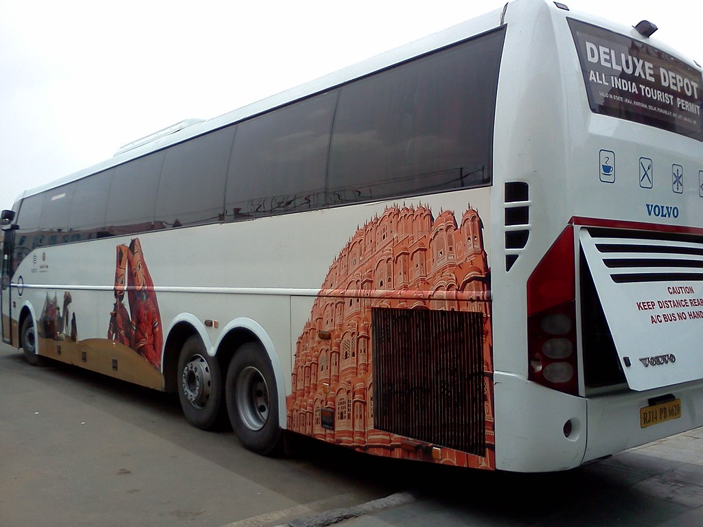 Delhi Jaipur Super Luxury Bus Operated By Rsrtc