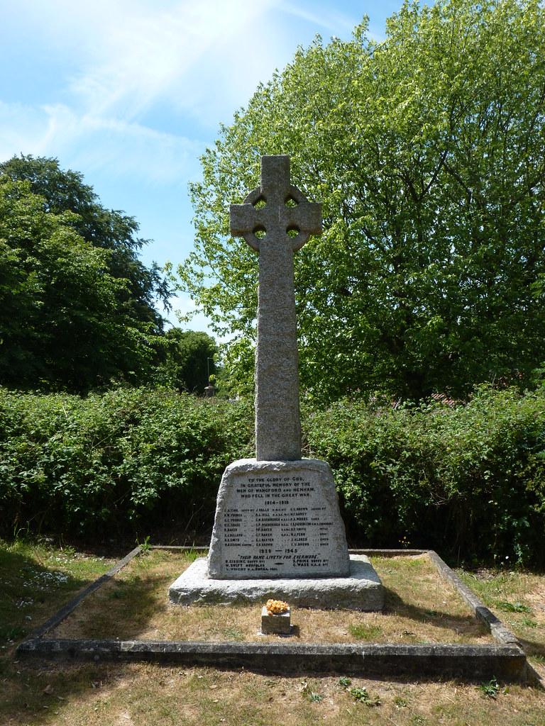 War Memorial, St Peter and St Paul Church, Wangford, Suffo ...