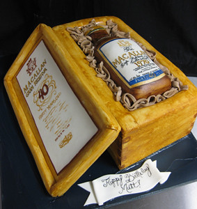 Sculpted Liquor Bottle Case Cake Sculpted Birthday Cake