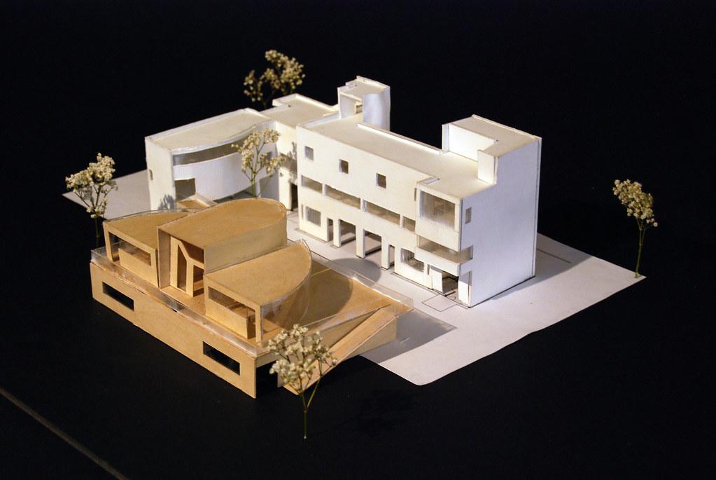 final model of addition to maison la roche by julio leiva. Black Bedroom Furniture Sets. Home Design Ideas