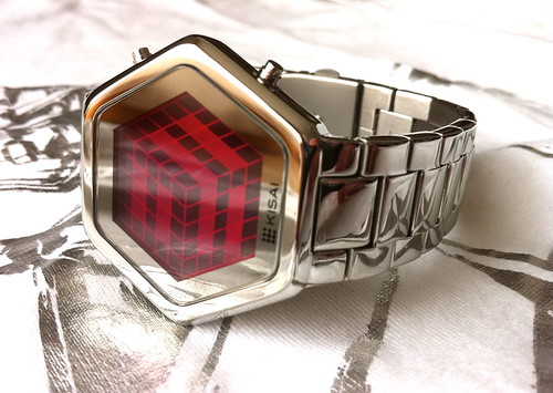 Kisai 3D Unlimited Pink LCD Watch Design | by Tokyoflash Japan