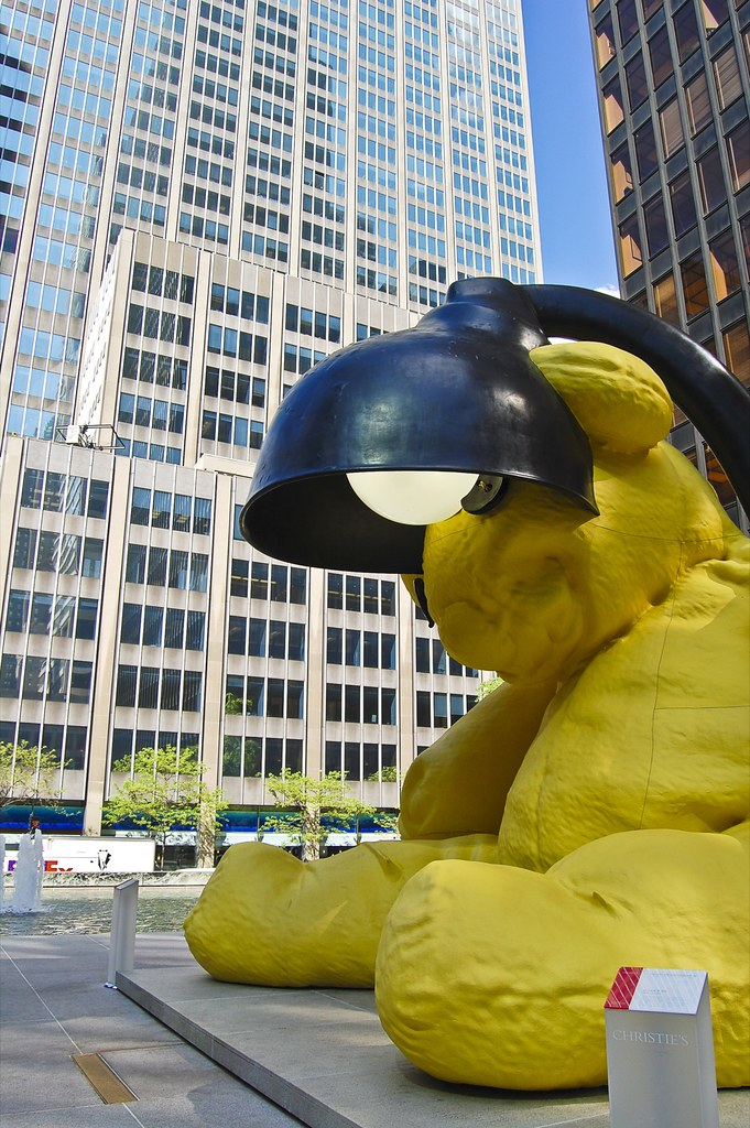 Untitled LampBear By Urs Fischer 20 Rockefeller Plaza