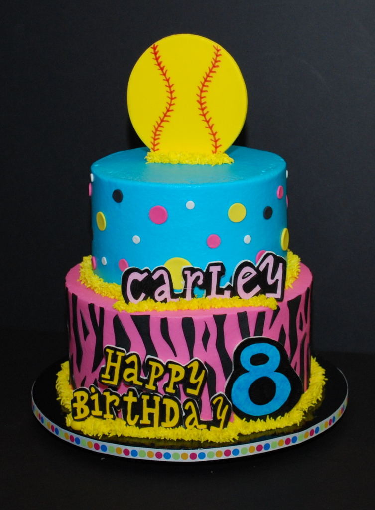 Bright Funky Birthday Cake I Just Finished Up This Cake Flickr