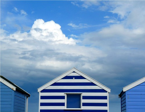 Beach huts in blue | by PhotoPuddle