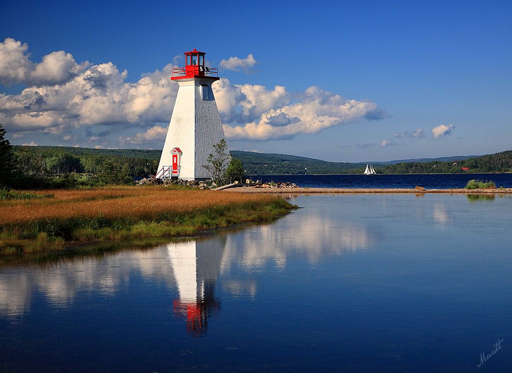 baddeck lighthouse on kidston island first nice day in a w flickr. Black Bedroom Furniture Sets. Home Design Ideas