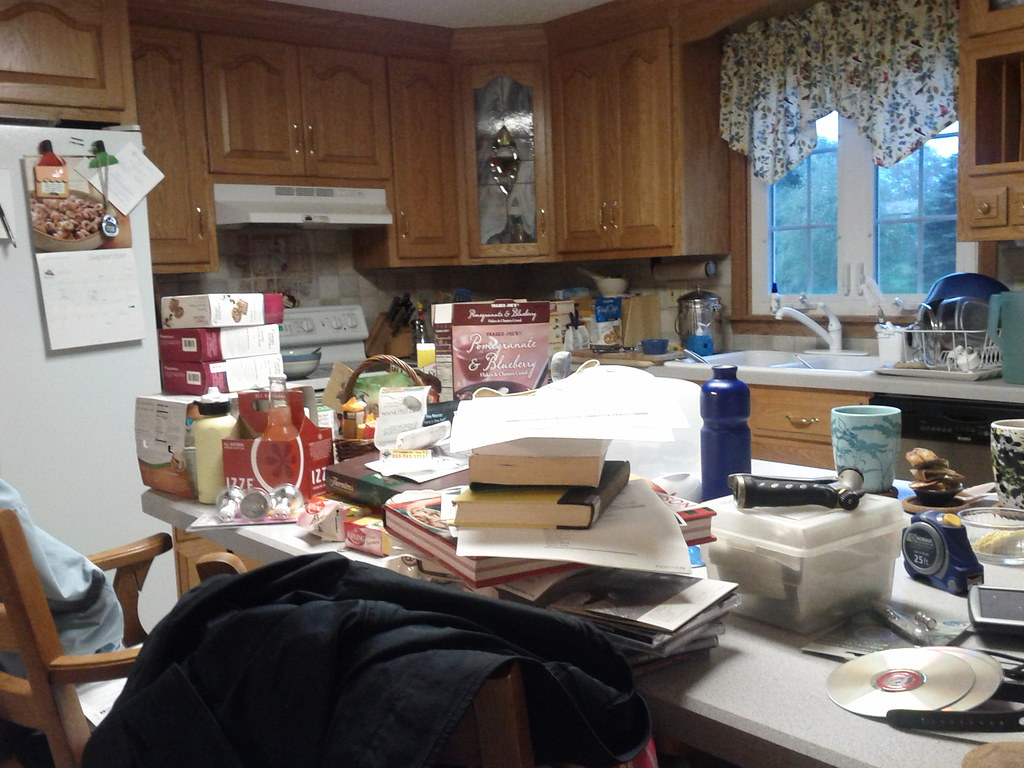 Messy Kitchen | By the end of the month, my kitchen is ...