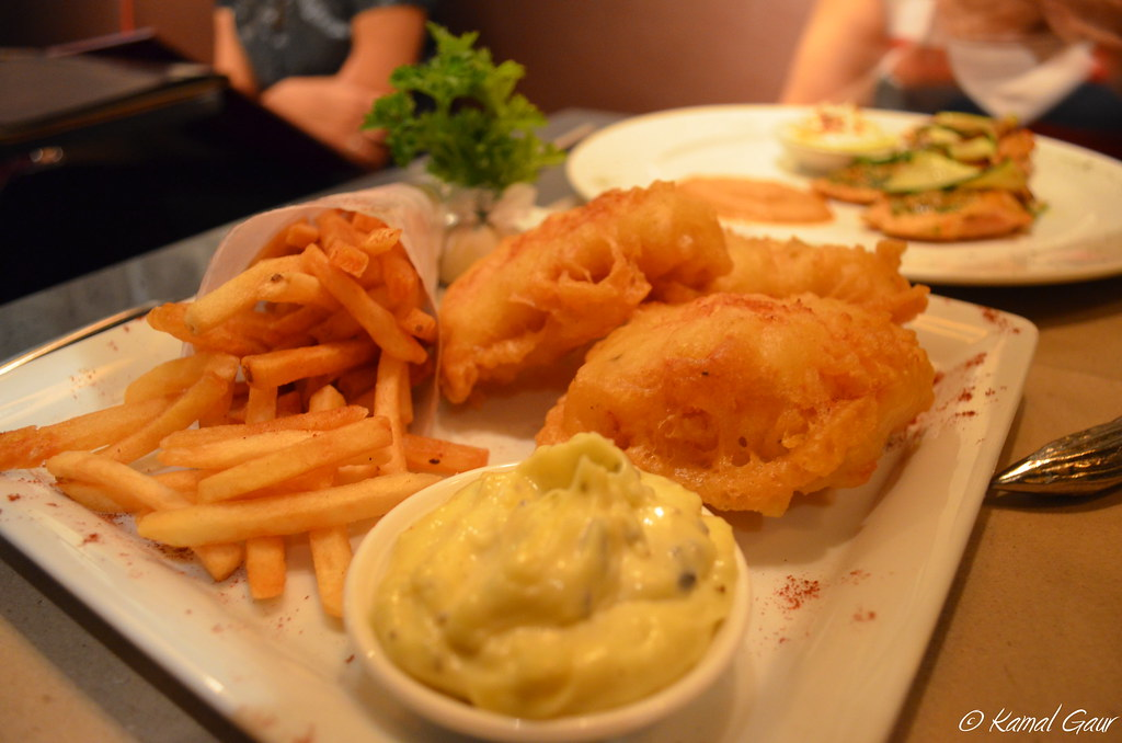 Beer batter fried fish and chips with tartar sauce flickr for Best beer battered fish