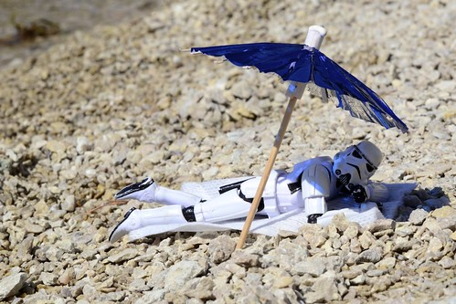 On the beach- or on vacation from the Death Star by Kristina  Alexanderson, on Flickr