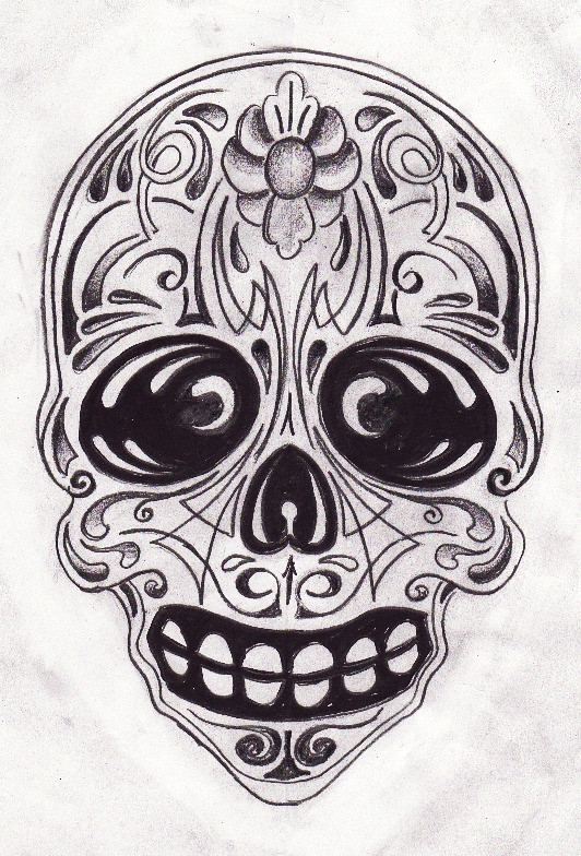 Sugar Skull  Sketch For A Tattoo Sketched Kind Of