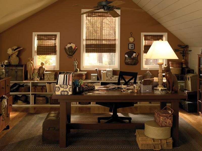 Attic Craft Room | Walls: Brandy 190F-5 Ceiling: Willow ...