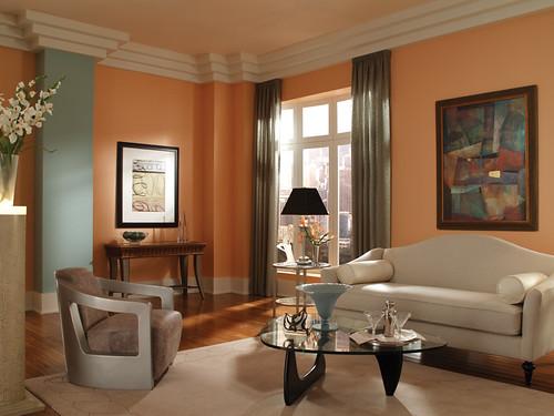 Art deco living room walls pink beach 230c 3 ceiling win flickr for Art deco paint colors interior