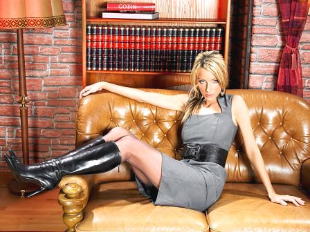 Model In Tall Black Leather Boots | Beverly J. Wilson