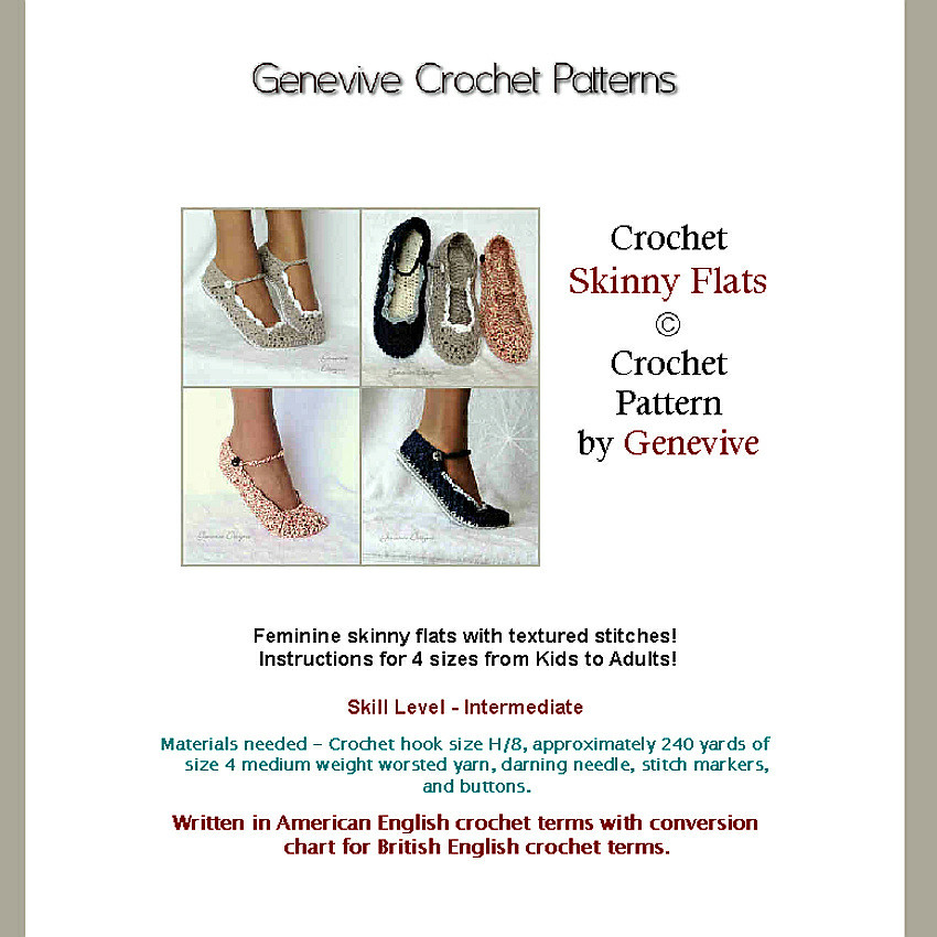 Size Conversion Chart Shoes: Skinny Flats Crochet Pattern | All pictures are copyright pru2026 | Flickr,Chart
