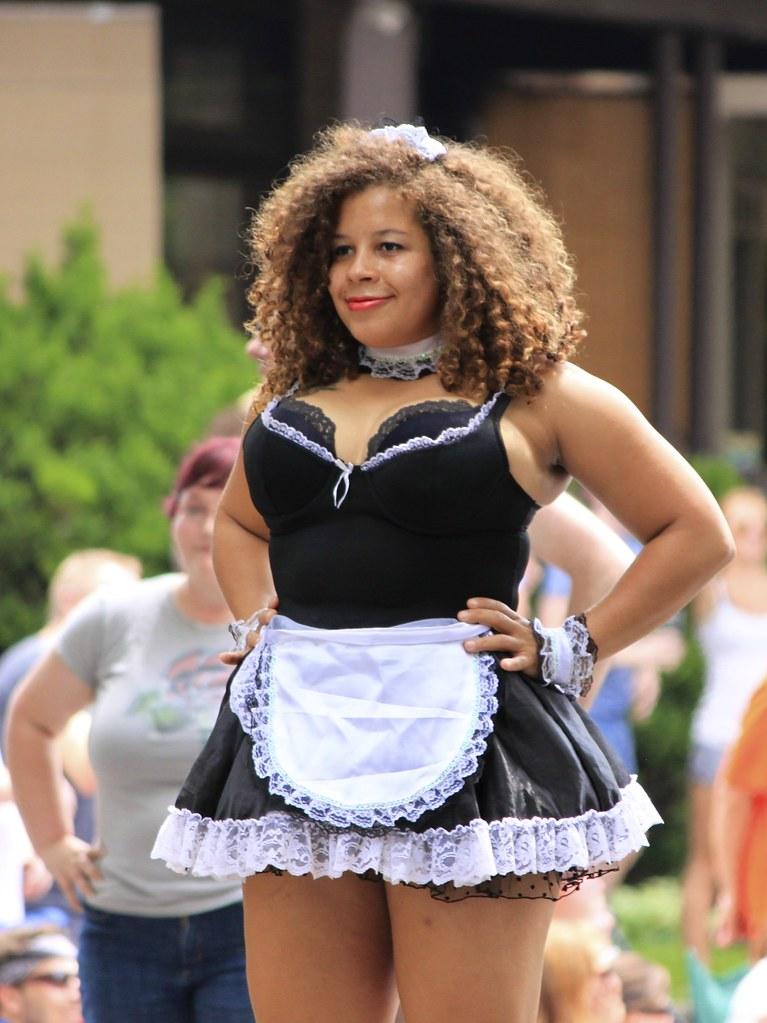 Busty black black woman