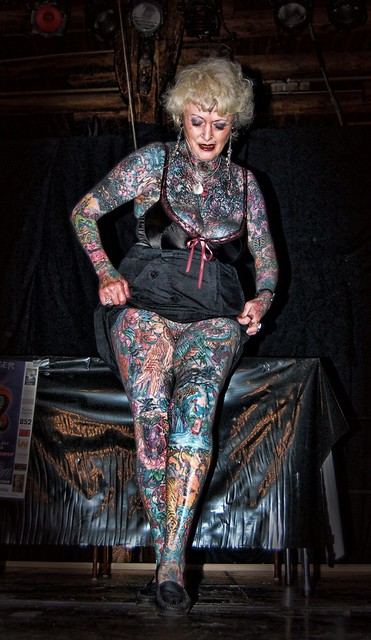 The most tattooed woman flickr photo sharing for Full body tattoo porn