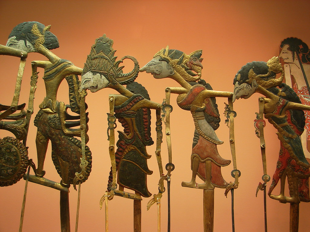 Balinese Shadow Puppets From The Museum Of Natural