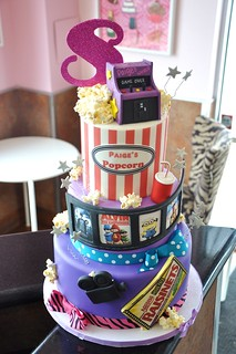 Paige's 8th Birthday Celebration Cake-Movies | by thecakemamas