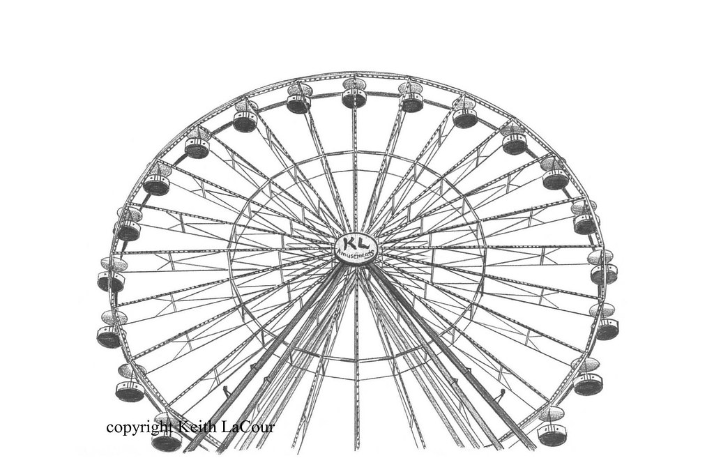 Simple Ferris Wheel Drawing | www.imgkid.com - The Image ...