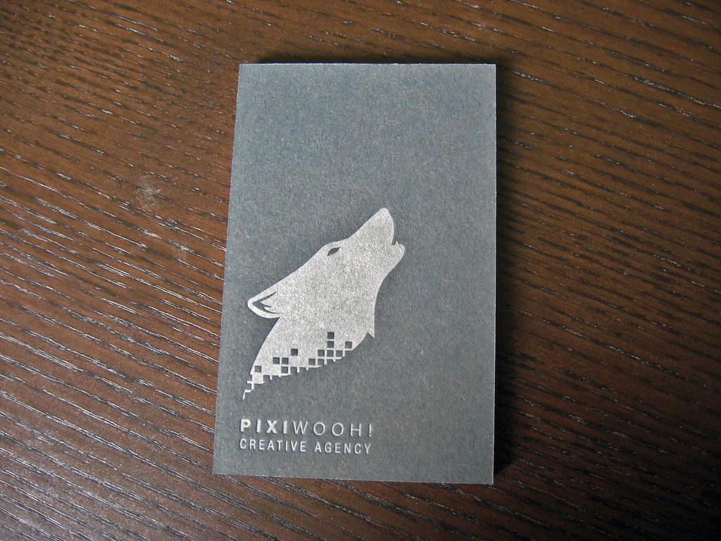 European Size Letterpress Business Cards Client Pixiwooh Flickr