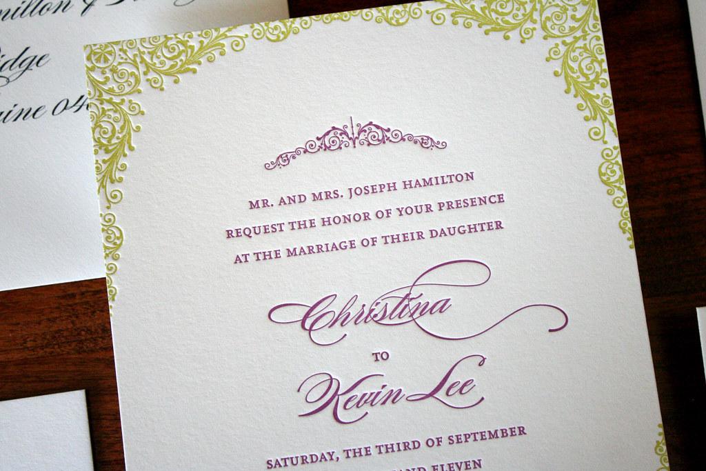 Classic + Elegant Letterpress Wedding Invitations | things a… | Flickr