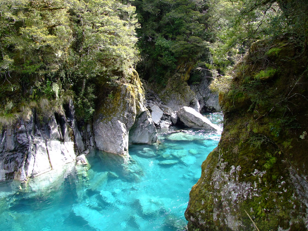 Haast New Zealand  city photo : Haast Pass Blue Pools | Clear blue pools of mountain water ...