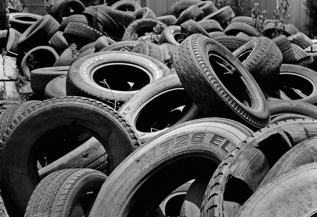 tire cemetery i was out trying to find a trailer with tire flickr. Black Bedroom Furniture Sets. Home Design Ideas