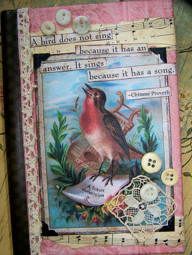 Altered Vintage Style Journal | by QueenBe1