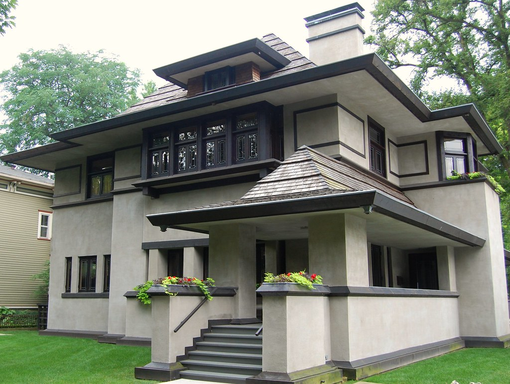 A frank lloyd wright house in chicago 39 s oak park jr p for Frank lloyd wright stile prateria