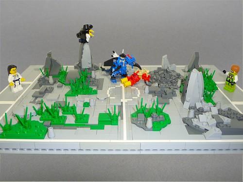 Pokemon battle here is a pokemon arena featuring a - Lego pokemon rayquaza ...