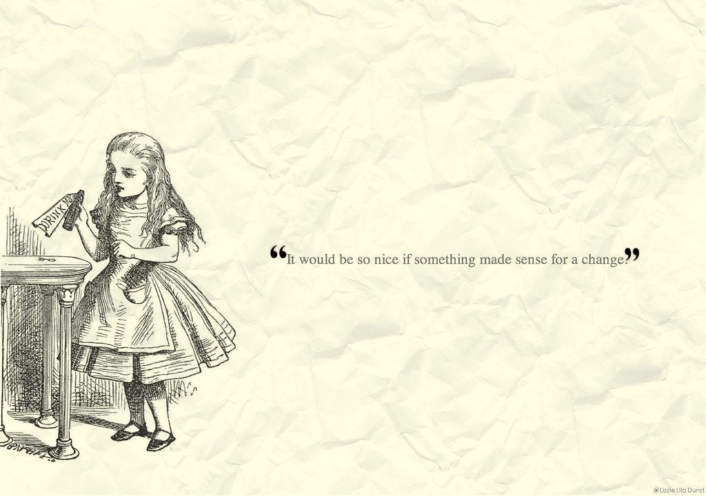 Alice In Wonderland Quotes Wallpaper - Live quotes
