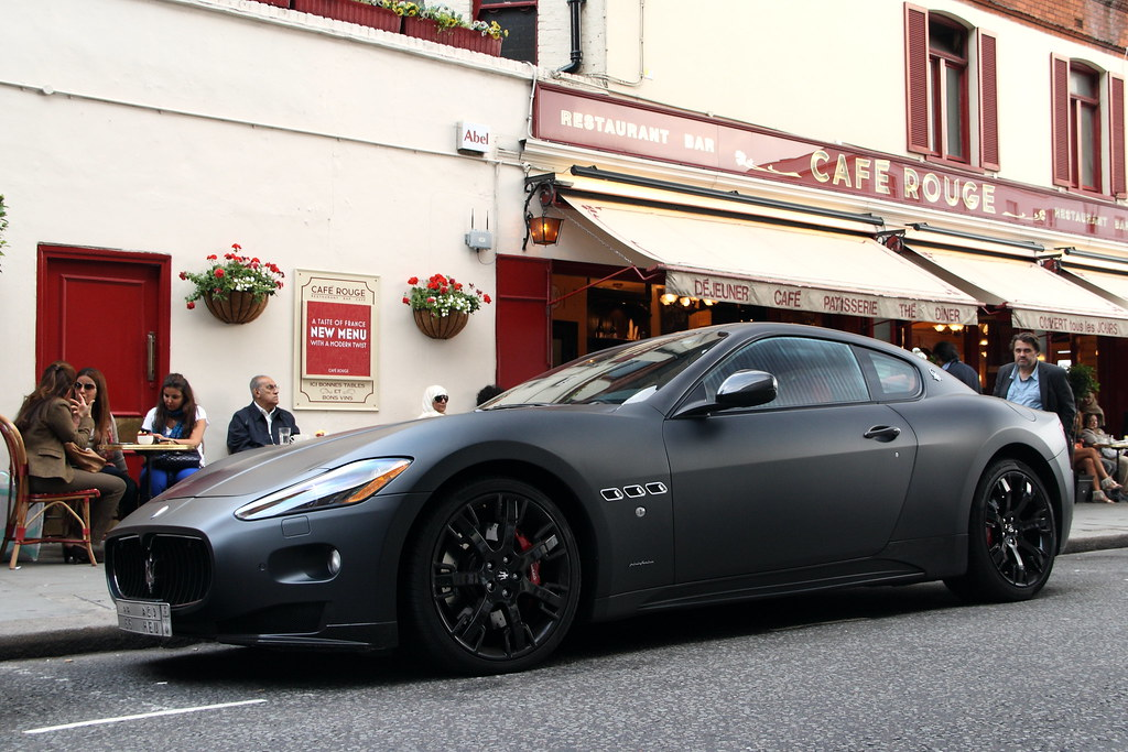 Maserati Granturismo S | First I have seen in matte black ...