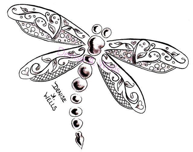 Dragonfly Drawings Designs Tattoo Design By