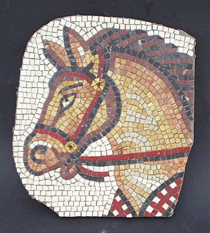 horses head mosaic