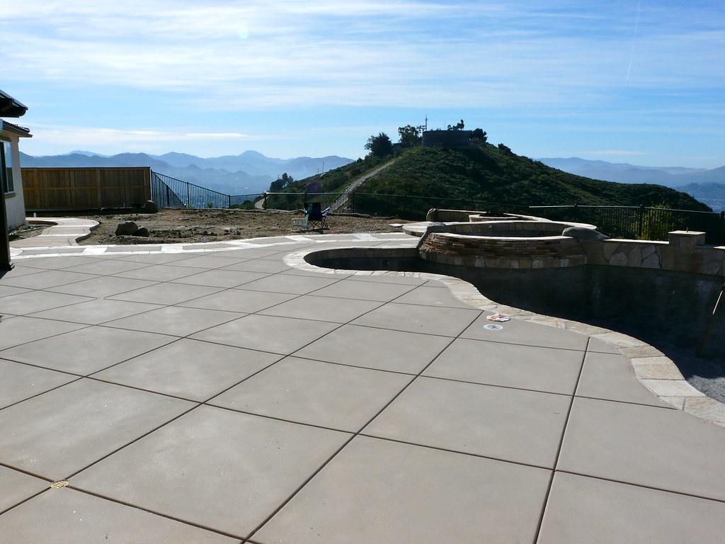 ... Diamond Cut Control Joints Colored Concrete Sandblast Finish | By  Calsmartscape