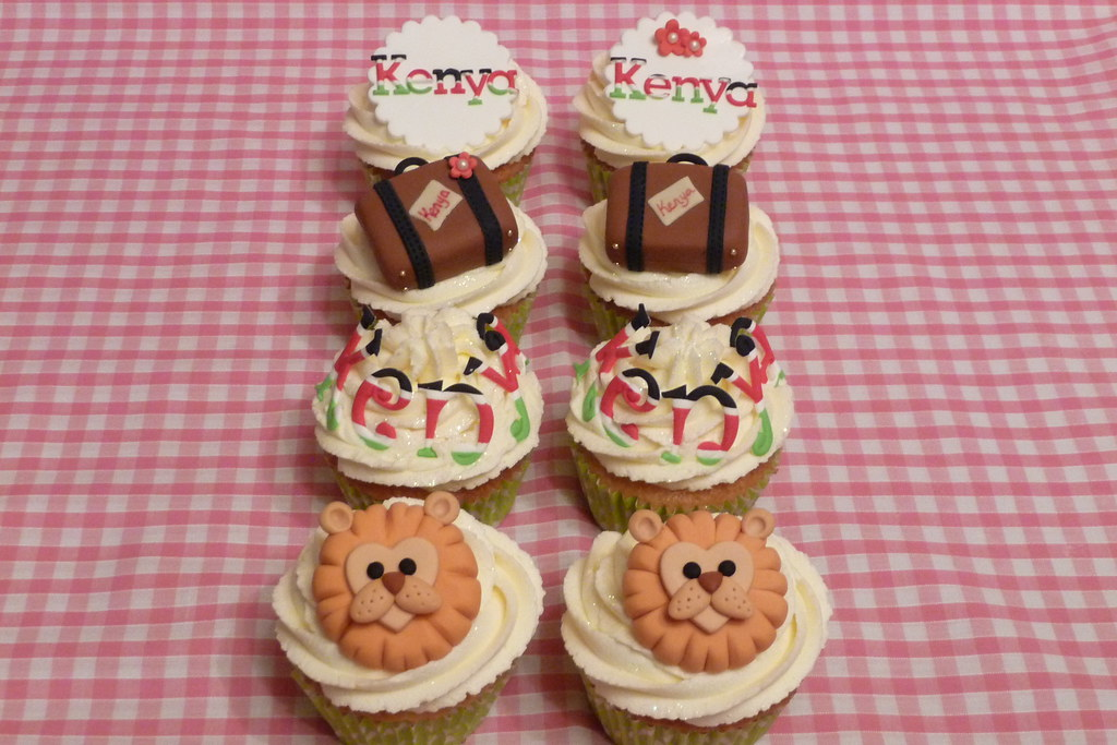 Kenyan Cupcakes Made For A Young Man Off To Kenya For A Mo Flickr