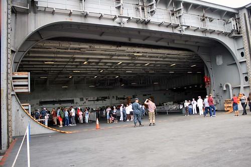 U S S Abraham Lincoln Cvn 72 Hangar Deck John R