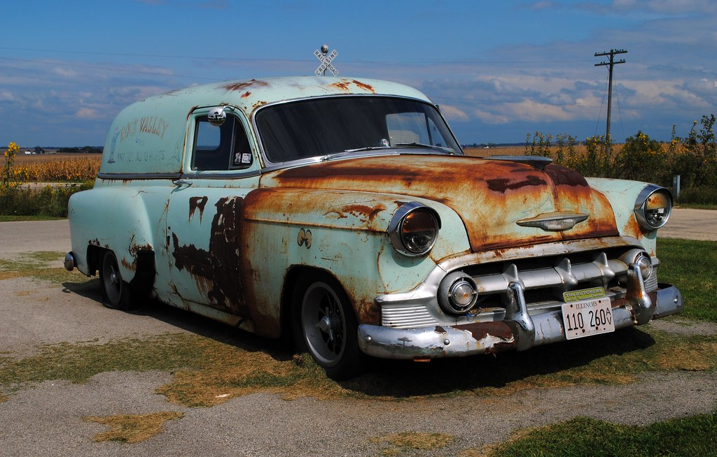 By Cragin Spring 1953 Chevy Panel Wagon