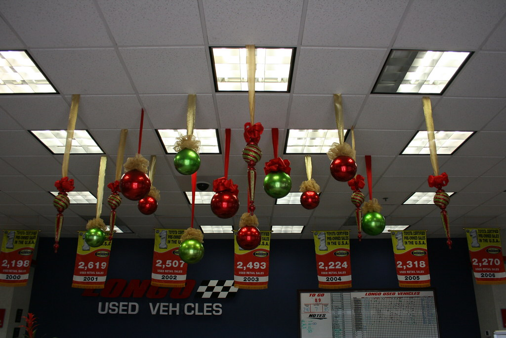 Balls and shaped christmas ceiling decorations large red for Christmas ceiling decorations