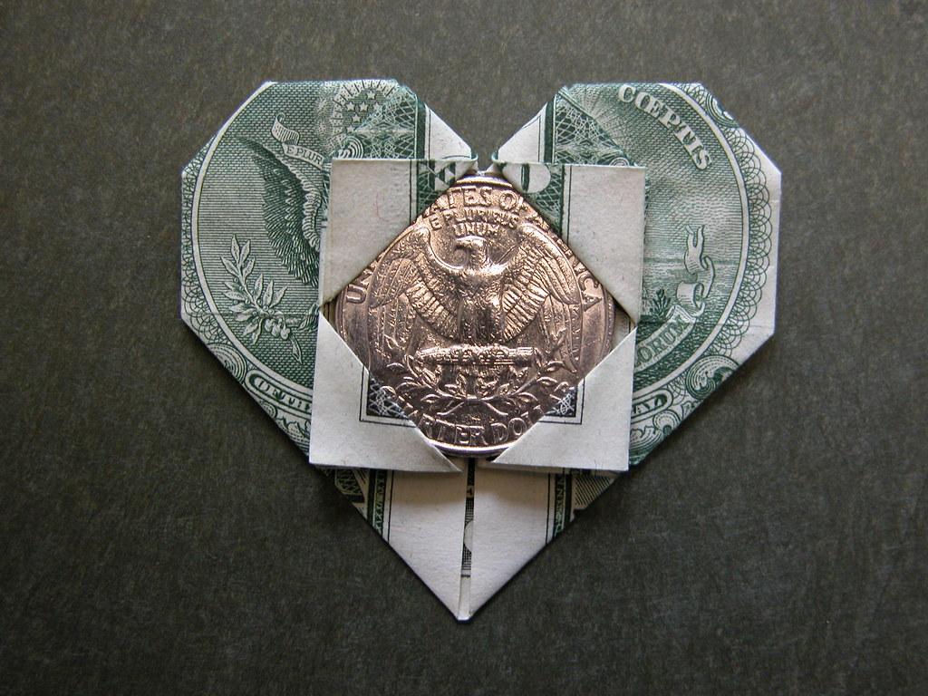 Dollar bill heart (A token of Love) | Design: Francis Ow ... - photo#44