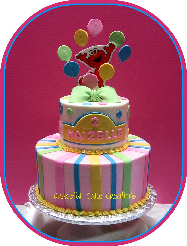 Elmo Birthday Cake Grace Tari Flickr