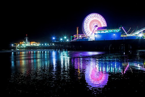santa monica pier in the night | by Eric 5D Mark III