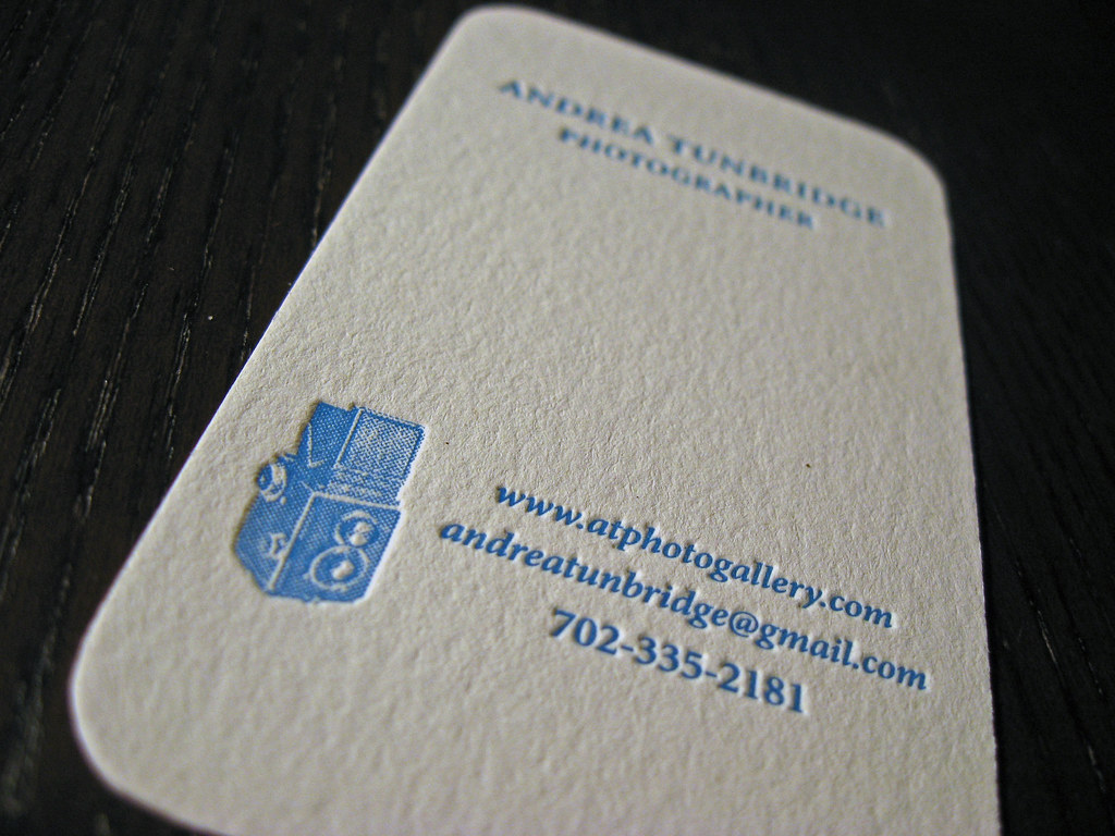 Letterpress card on textured paper | Client: Andrea Tunbridg… | Flickr