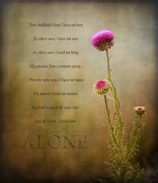 alone by edgar allan poe pdf