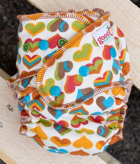 First Love One-Size Fitted Diaper (Knit, Serged, Organic Bamboo Velour) | by thegoodmama.com