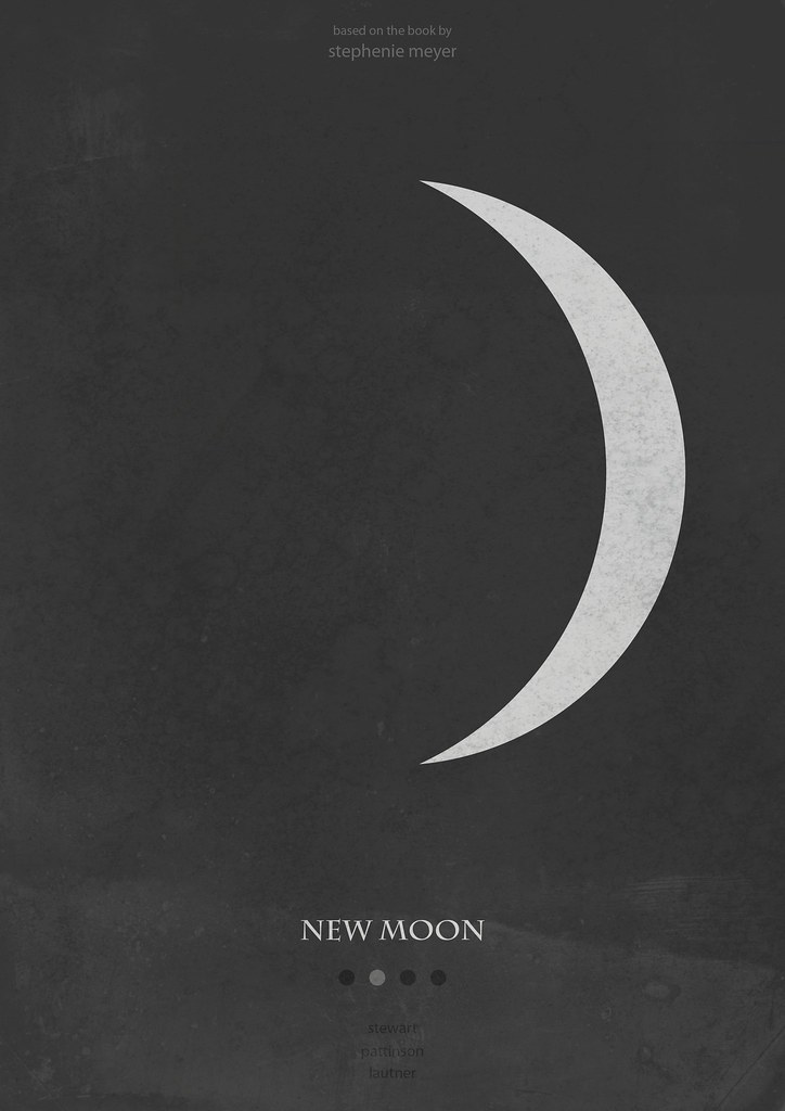 New Moon Minimalist Poster Twilight Saga Ii The Second Flickr