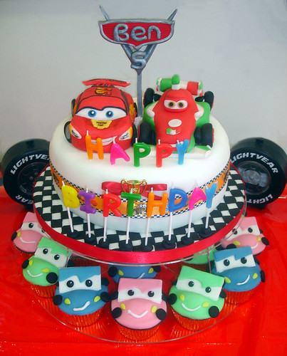 Big Red Car Cake Back