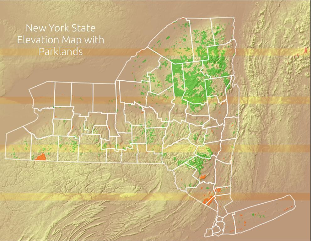 Nys Elevation Map.Ny State Elevation Map With Parklands Download High Resolu Flickr