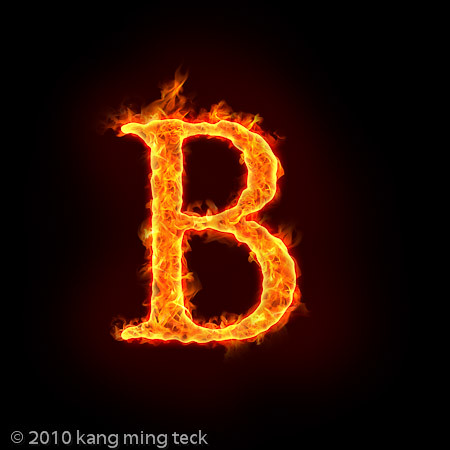 fire B | Alphabets on fire, with flame. check out mtkang ... Letter B Fire
